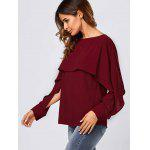Slit Sleeve Overlay Blouse for sale
