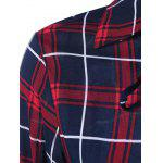 Lace Up Plaid Shirt - CHECKED
