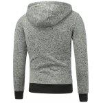 Button Pocket Appliqued Sweatshirt Hoodie for sale