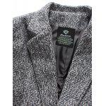 Flap Pocket Lapel Tweed Wool Mix Coat deal