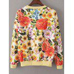 cheap Loose Floral Vintage Sweatshirt