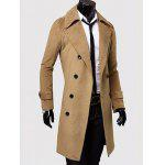 cheap Double Breasted Overcoat with Side Pockets