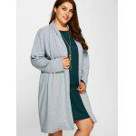 Plus Size Collarless Casual Loose Coat deal