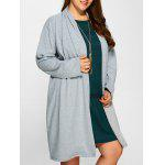 Buy GRAY, Apparel, Women's Clothing, Plus Size, Plus Size Outerwear for $30.20 in GearBest store