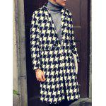 cheap Notch Lapel Back Vent Tweed Coat