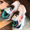 cheap Splicing Tie Up Color Block Sneakers