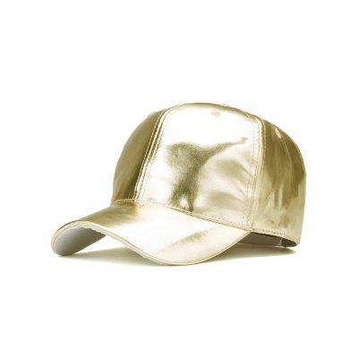 Sparkling PU Leather Baseball Hat