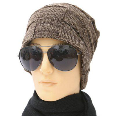 Outdoor Warm Basket Weave Toboggan Hat