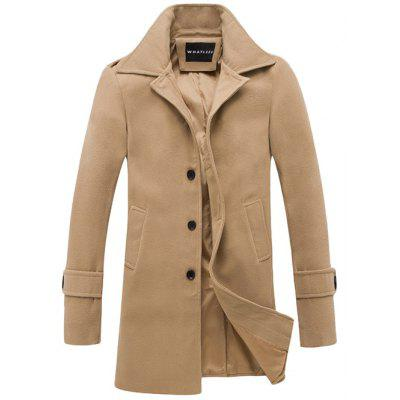 Turndown Collar Long Sleeve Coat
