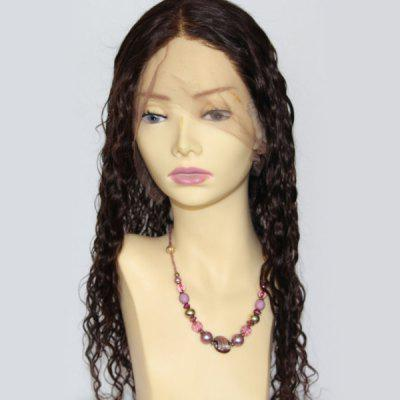 Long Centre Parting Curly Lace Front Indian Human Hair Wig