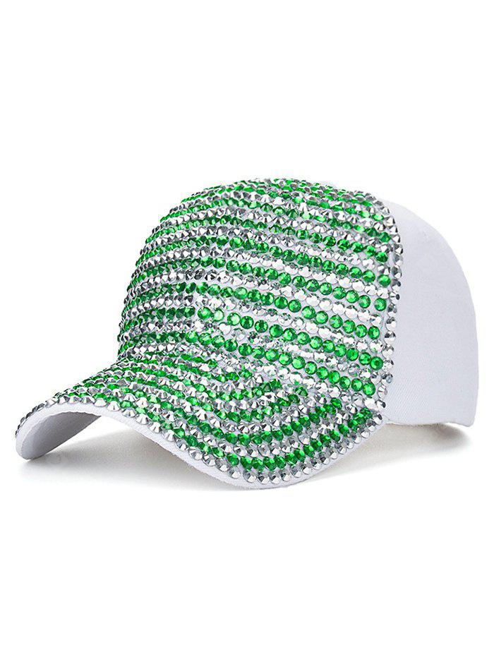 Cappello Da Baseball Con Chiusura A Scatto E Diamante Artificiale Casual