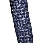 Fliege Kragen-Spitze Spliced ​​A-Line Kleid - CADETBLUE