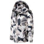 Buy Zip Hooded Camouflage Lightweight Jacket GRAY