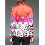 Color Block  Satin Shirt for sale