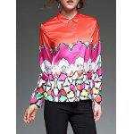 cheap Color Block  Satin Shirt