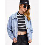 Pocket Design Bleach Washed Denim Jacket deal