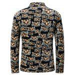 3D Tiger Print Stand Collar Quilted Jacket deal