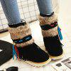 cheap Suede Faux Fur Snow Boots
