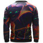 Stand Collar 3D Halloween Pumpkin Lantern Print Jacket deal