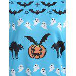 best Halloween Bat Pumpkin Print Pullover Sweatshirt