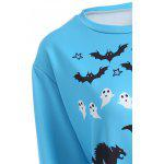 Halloween Bat Pumpkin Print Pullover Sweatshirt for sale