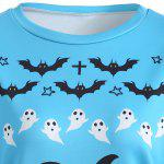 Halloween Bat Pumpkin Print Pullover Sweatshirt deal
