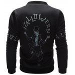 Skeleton Printed Zip Up Halloween Jacket deal