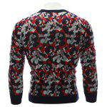 Crew Neck Color Block Camouflage Sweater deal