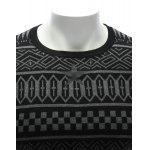 Crew Neck Ethnic Style Geometric Graphic Sweater for sale