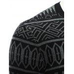 Crew Neck Ethnic Style Geometric Graphic Sweater photo