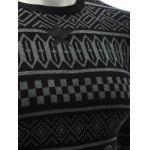 best Crew Neck Ethnic Style Geometric Graphic Sweater