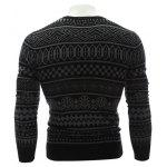 Crew Neck Ethnic Style Geometric Graphic Sweater deal