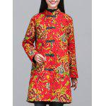 cheap Chinese Style Floral Print Quilted Jacket