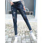 Patched Pencil High Waisted Jeans deal