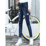 best Patched Pencil High Waisted Jeans