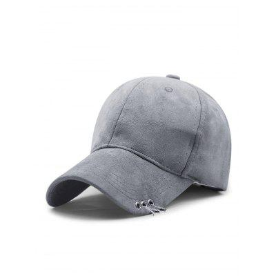 Adjustable Iron Circle Decorative Pleuche Baseball Hat