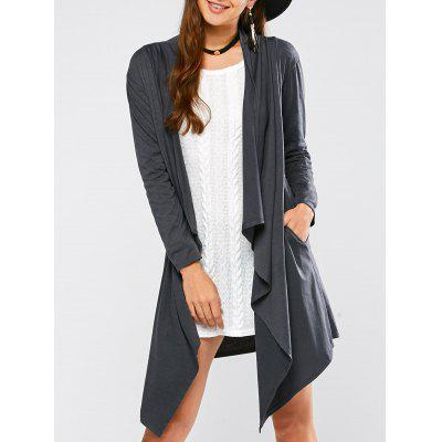 Asymmetric Draped Cardigan