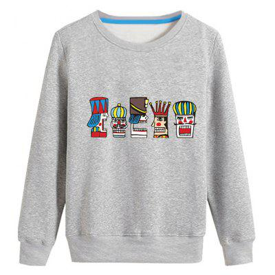 Cartoon King Printed Long Sleeve Sweatshirt