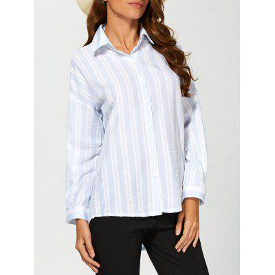 Striped Drop Shoulder Formal Shirt