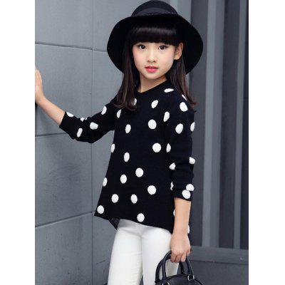 Round Neck Polka Dot Sweater