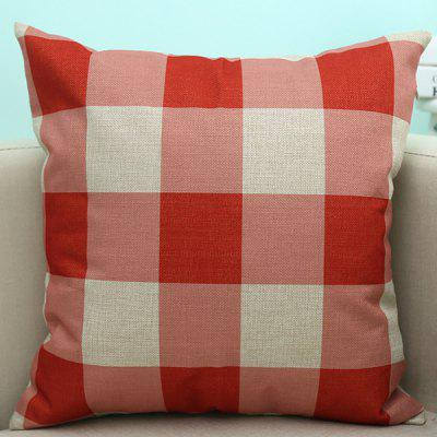 Plaid Pattern Sofa Cushion Linen Pillow Case