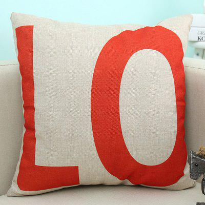 LO Letter Love Sofa Cushion Linen Pillow Case $4 64 line