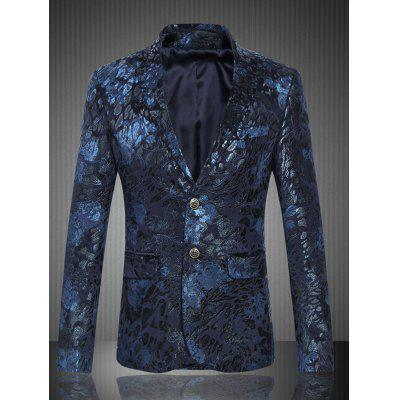 804ee01962d Florals Jacquard Lapel One Button Blazer -  34.47 Free Shipping ...