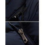 Giacca Slim Fit Zipper Up con Cappuccio Trapuntato - CADETTO BLU