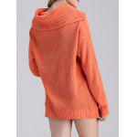 Ribbed Knit Cowl Neck Tunic Sweater for sale
