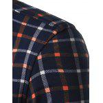 Turndown Collar Thicken Color Block Plaid Shirt deal