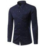 Turndown Collar Thicken Stars Print Shirt