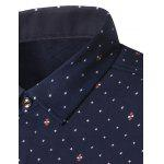 cheap Turndown Collar Thicken Stars Print Shirt