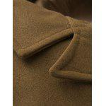 Monopetto Pocket spallina design cappotto di lana - CACHI