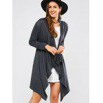 cheap Draped Front Longline Cardigan